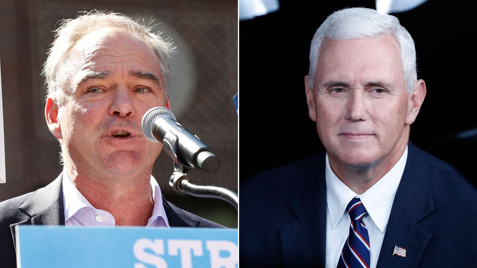 Tim Kaine (left) and Mike Pence.