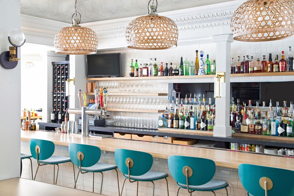A newcomer to the local dining scene, or The Whale features a daily brunch amid a dining room designed by Marla Mullen Sanford of Marla Mullen Designs.
