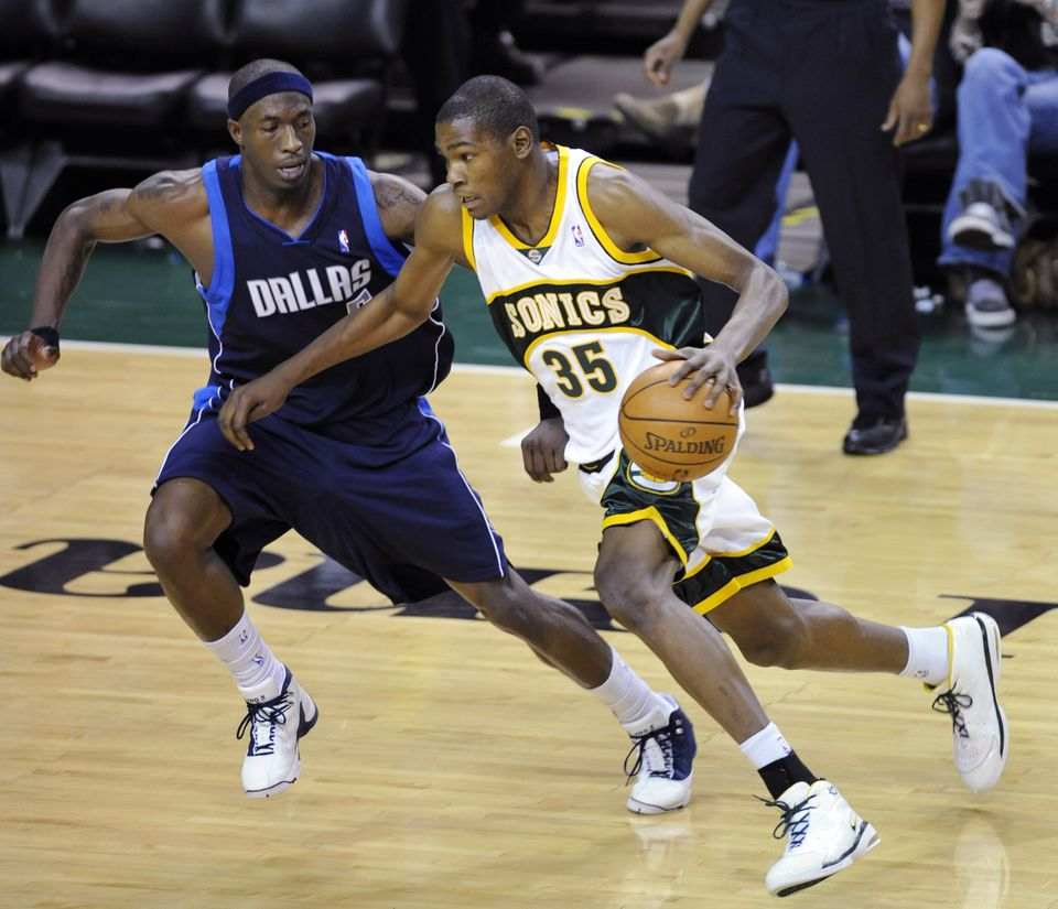 Kevin Durant, seen in 2008, is one of only two active NBA players to play for the Seattle SuperSonics. The NBA has interest in bringing a team back to Seattle.
