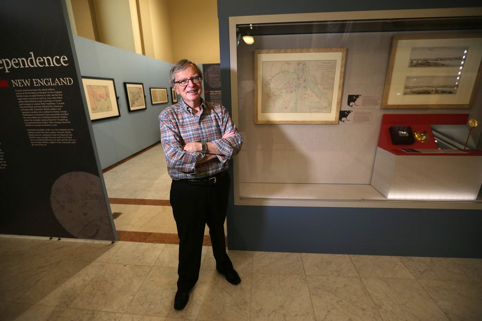 """Ronald Grim, as curator of the Norman B. Leventhal Map Center at the Boston Public Library, organized the """"We Are One"""" exhibition."""