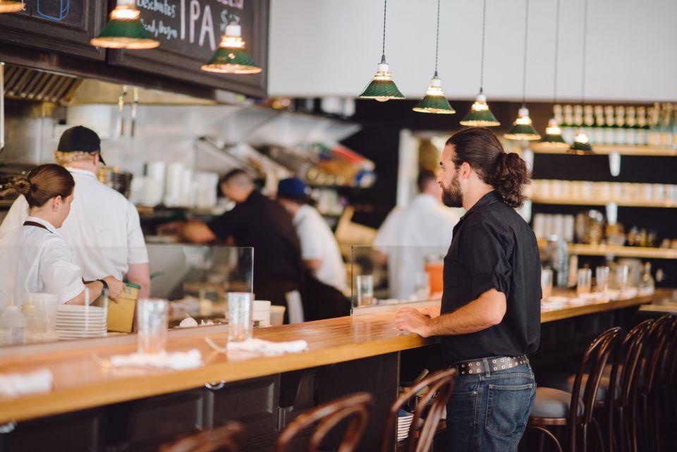 Inside the Salt Lake City restaurant Copper Onion.