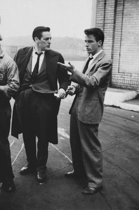 A Kubrick shot of Montgomery Clift (right) with fellow actor Kevin McCarthy
