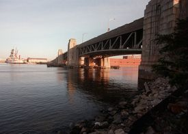 The old Fore River Bridge, as seen from the Weymouth side in this 1998 file photo.