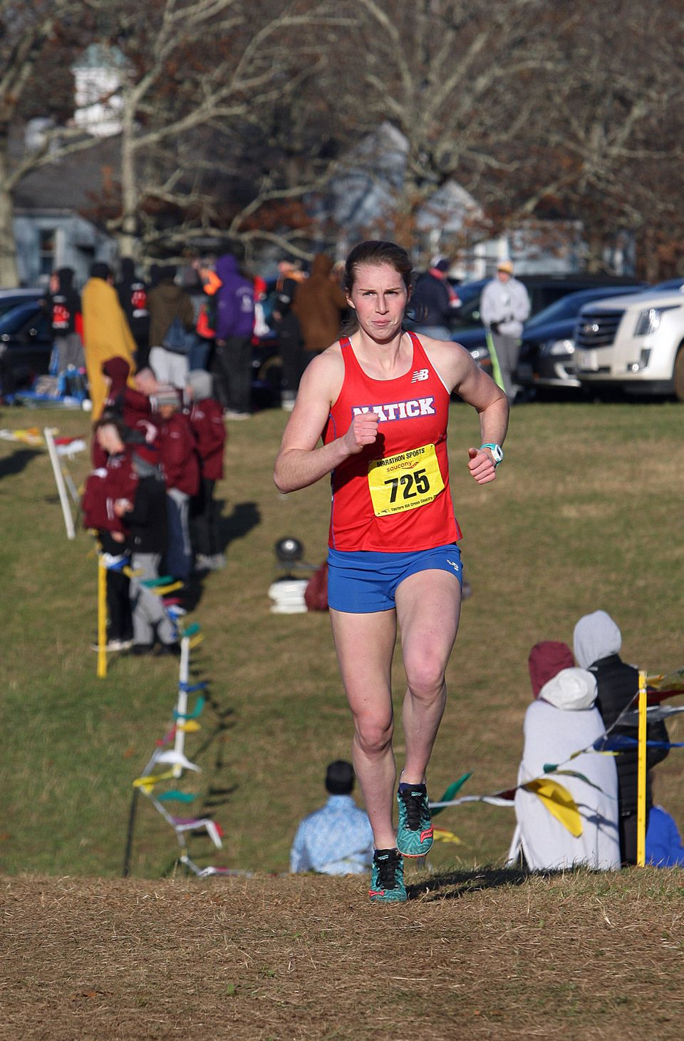 Grace Connolly clocked a sizzling 17 minute, 4 second-finish, shattering the course record at the Wrentham Developmental Center by 23 seconds.