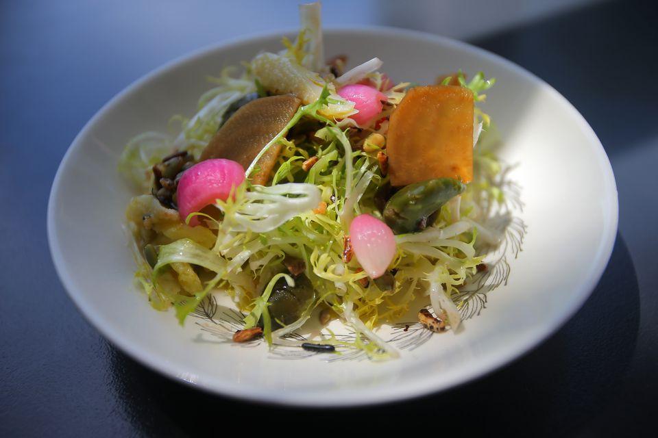 Nicoise salad at restaurant Juliet in Somerville's Union Square.