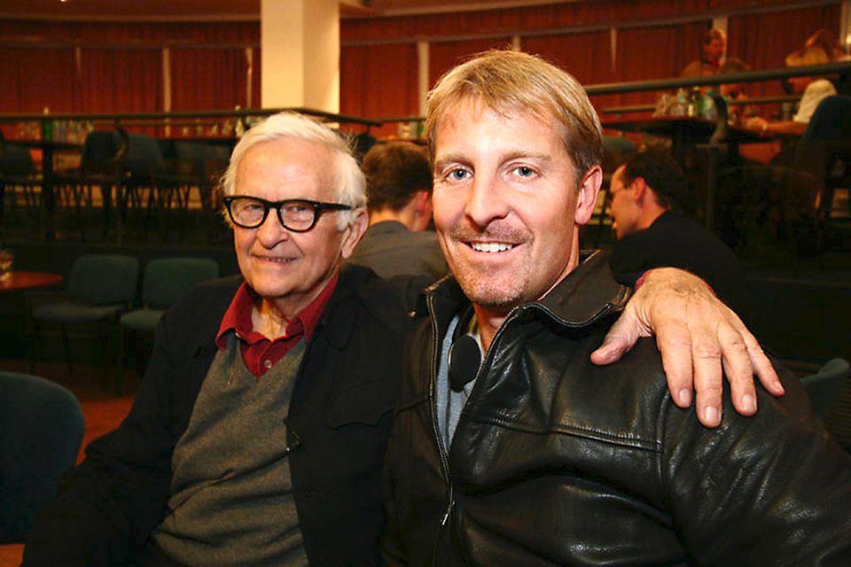 Chris Seufert (right) with legendary documentary maker Albert Maysles.