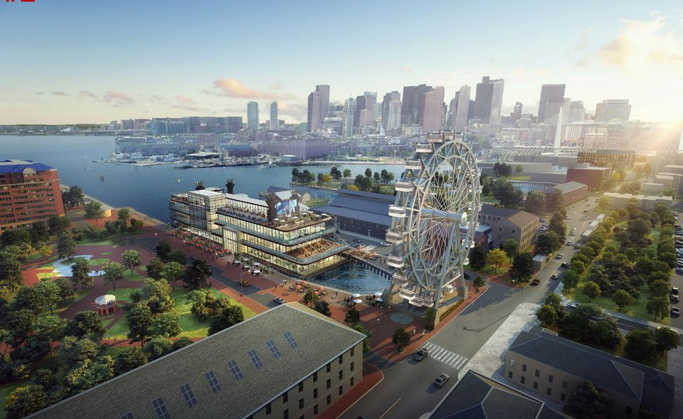 A proposal for a mixed-use boat at Dry Dock at the Charlestown Navy Yard.