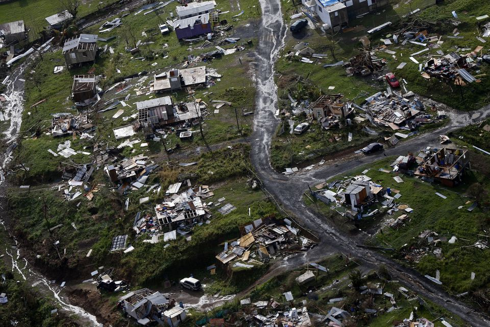 The aftermath of Hurricane Maria in Toa Alta, Puerto Rico.