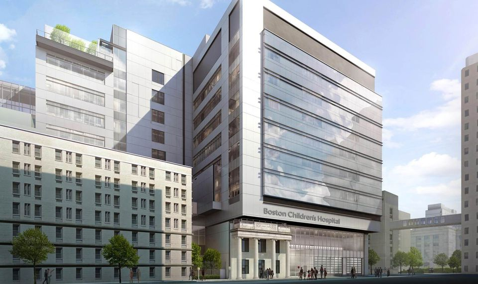 A rendering of Boston Children's Hospital proposed new building.