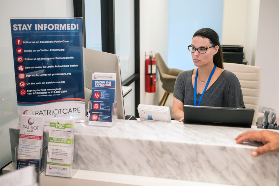 Amber Alagich, Patriot Care's assistant general manager, was at work Tuesday preparaing the dispensary for its opening.