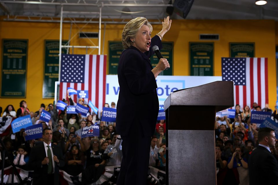 Hillary Clinton spoke during a campaign rally in Ohio earlier this month.