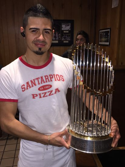 The Red Sox took the World Series trophy to an iconic East Boston