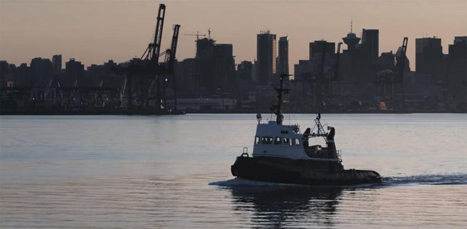 """Marco Rubio's campaign ad """"Morning Again in America"""" features a stock footage shot of the harbor and skyline of Vancouver, Canada."""