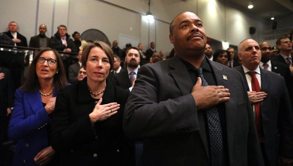 Attorney General Maura Healey and Boston Police Commissioner William Gross attended the ceremony.
