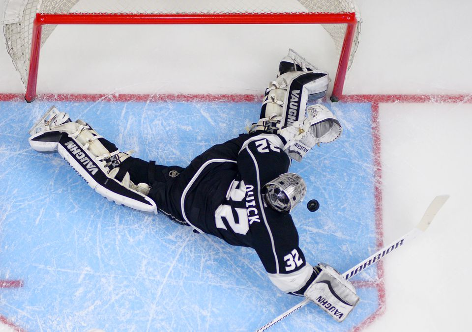 Jonathan Quick noted the strain on his legs because of how deep he has to play against Anaheim top-liners.