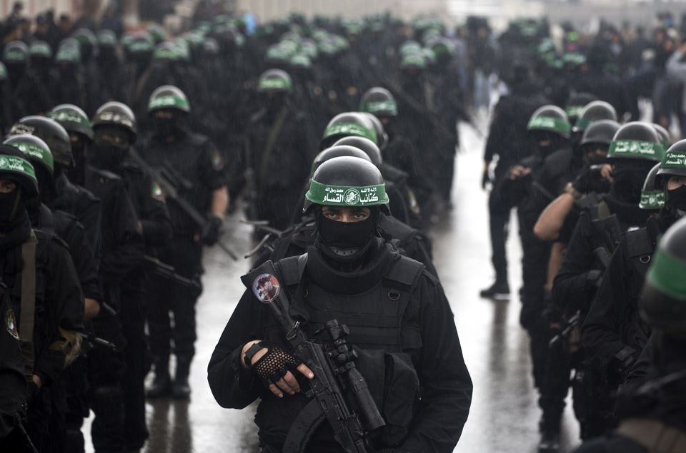 Palestinian militants of Hamas's armed wing took part in a parade last year in Gaza City.