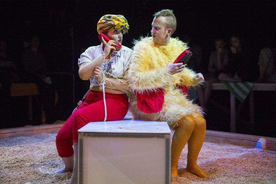 Aliana de la Guardia (left) and Douglas Dodson in the Guerilla Opera production.