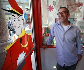 The World's Only Curious George Shop owner Adam Hirsch, shown in a 2015 file photo.