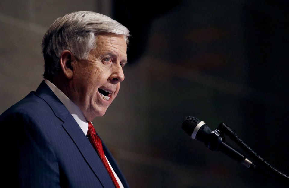 Missouri Gov. Mike Parson delivered his State of the State address in Jefferson City, Mo. on Jan. 16.