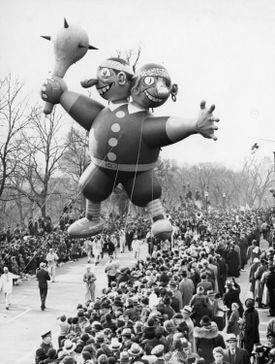 A balloon in Boston on Thanksgiving Day 1937.
