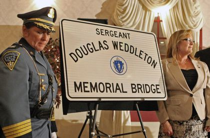 Mansfield bridge named for trooper killed nearby - The Boston Globe