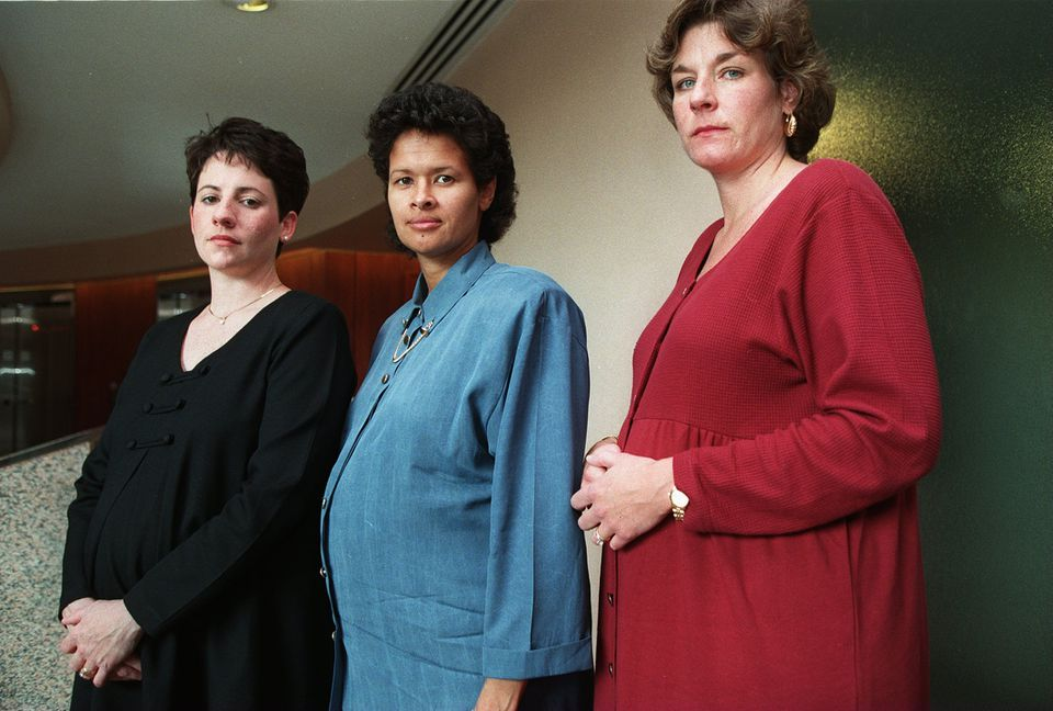 State Police Lieutenant Lisa Butner (center), pictured in 1998, is a plaintiff in the complaint.