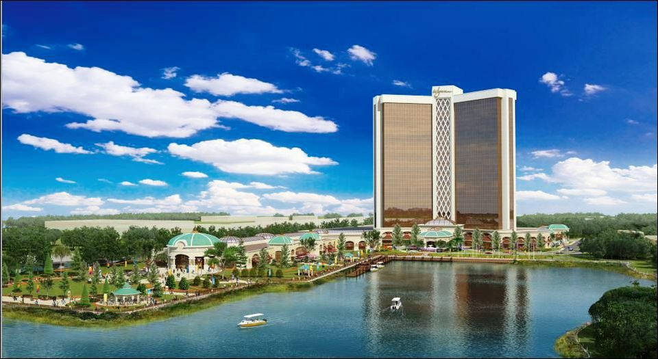 A rendering of the Wynn casino proposed in Everett. The city stands to gain more than $100 million over the first four years if Wynn Resorts is granted a casino license.