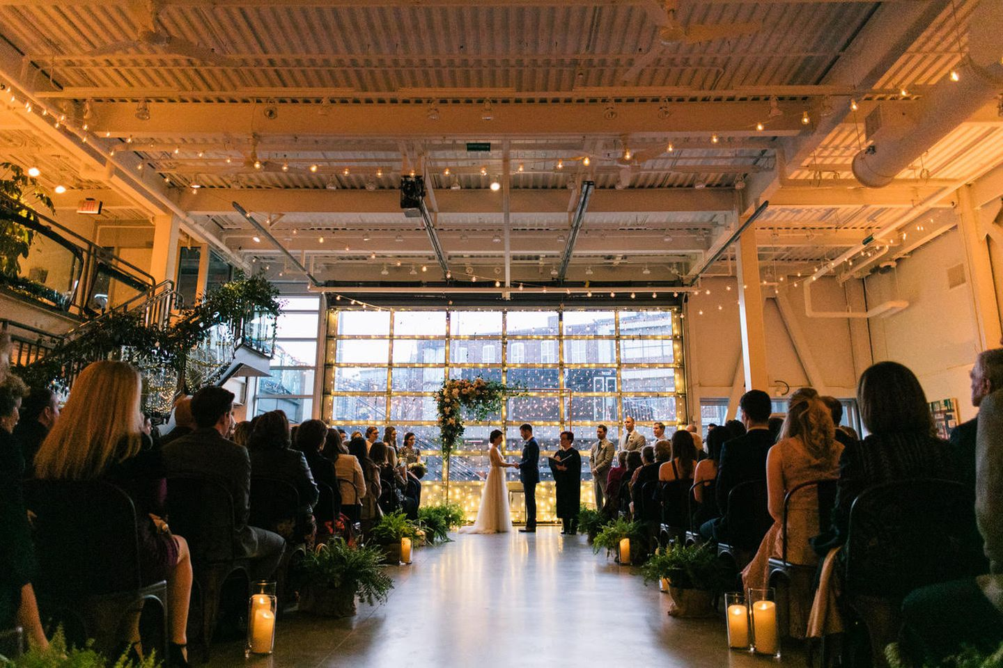 A wedding at the Artists for Humanity EpiCenter.