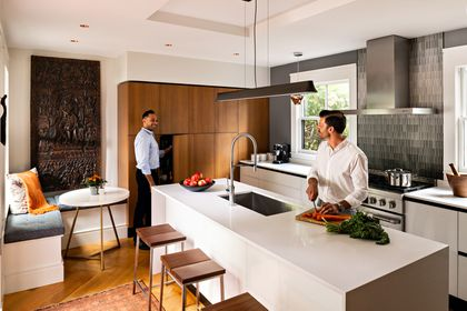 With Sleek Italian Cabinets A Dorchester Kitchen Remodel Exudes