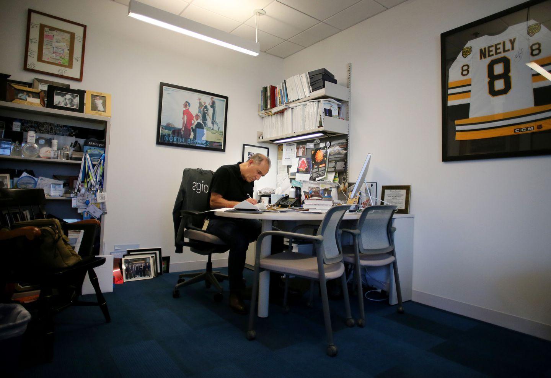 Schenkein at work in his office.