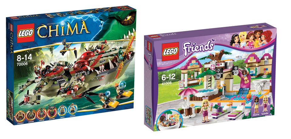 LEGO's Friends line has been criticized for featuring hair salons and shopping malls.