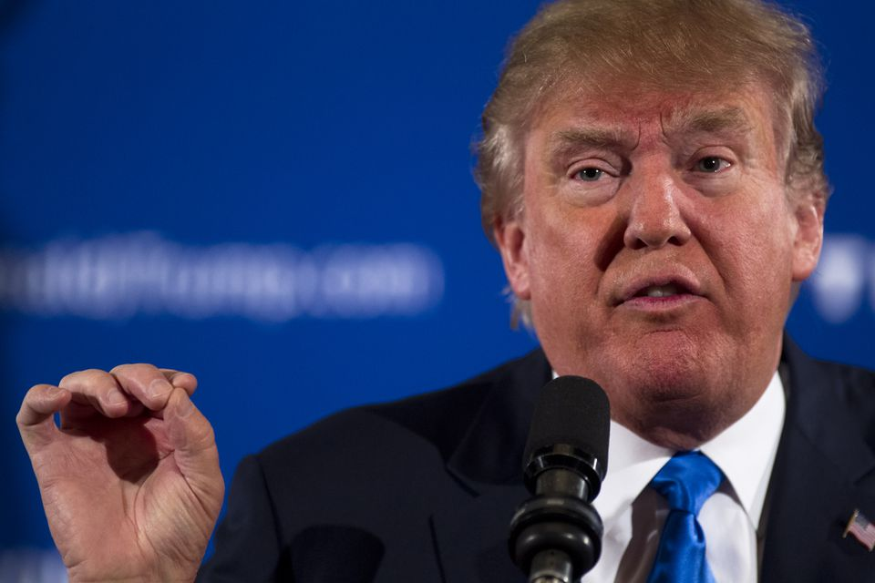 Donald Trump spoke Monday during an early-morning campaign event in Atkinson, N.H.