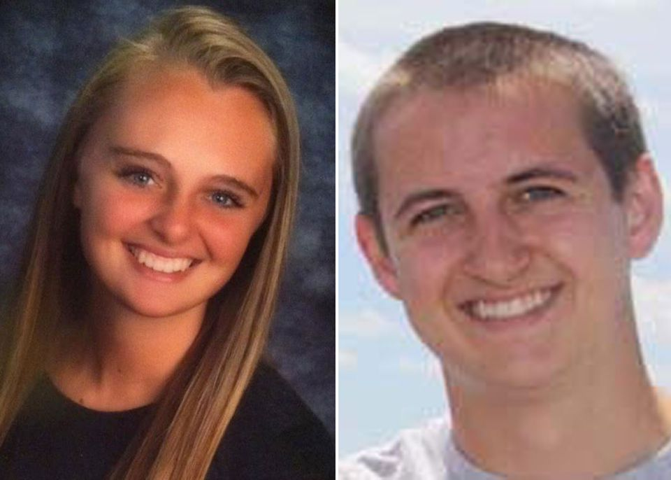 """Michelle Carter (left) is accused of telling Conrad Roy to """"get back in the truck"""" when he got out."""