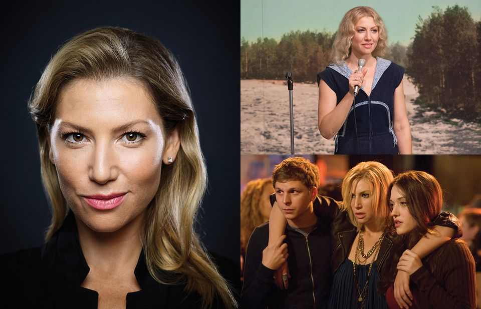 """Wellesley native Ari Graynor (left) has a role in James Franco's upcoming movie.  She plays Cassie in Showtime's """"I'm Dying Up Here"""" (top right), and appeared in """"Nick & Norah's Infinite Playlist"""" (bottom right)."""