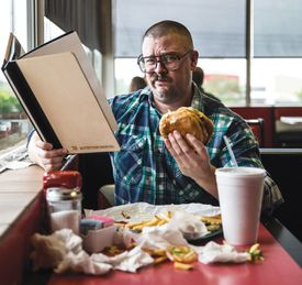 Michael Andor Brodeur, at lunch, considers the costs of Brady-style clean living.