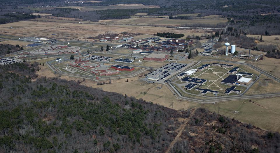 An aerial view of Bridgewater State Hospital.