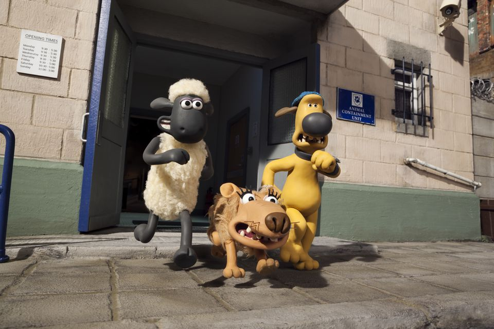 Shaun (left), Slip, and Bitzer are among the characters.