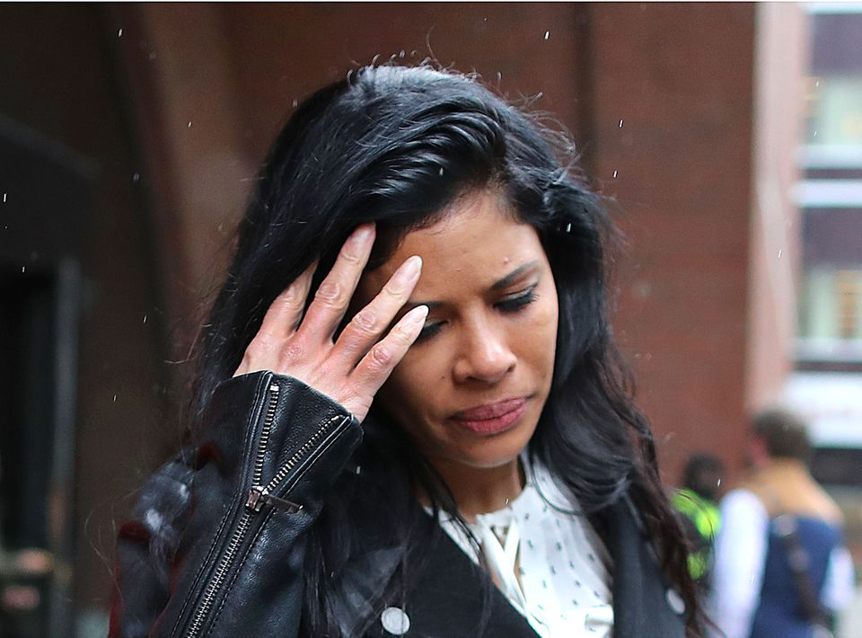 Sunrise Lee, a sales executive, left Moakley Federal Court on Thursday.