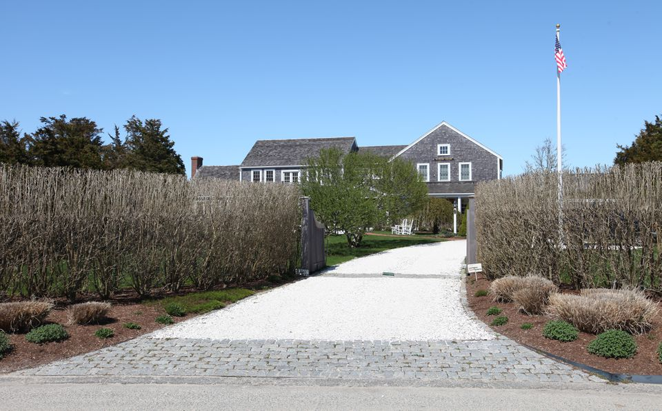 """David Long's stately, cedar-shingled Nantucket home, a 5,700-square-foot chateau he calls """"Summer Wind."""""""