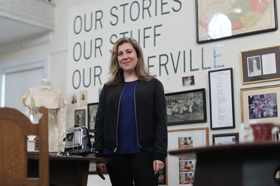 "Artist/curator Bess Paupeck put out calls for Somerville residents to loan personal treasures, as a way of capturing the city's history and present for the exhibit ""Our Stories, Our Stuff, Our Somerville."""