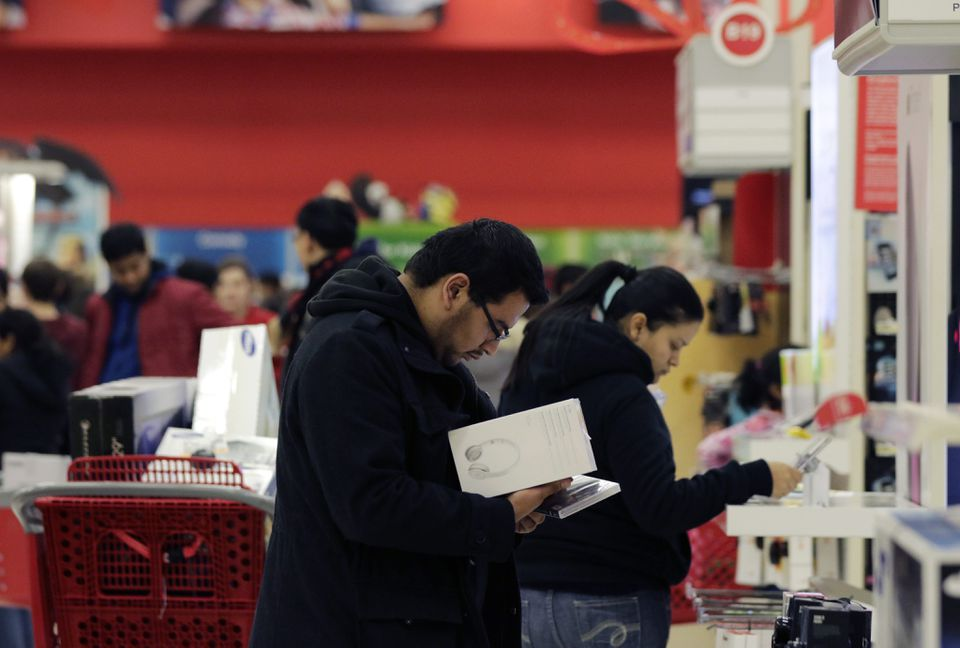 b15a5a30 Shoppers at a Target store on Thanksgiving night in Wheeling, Ill.