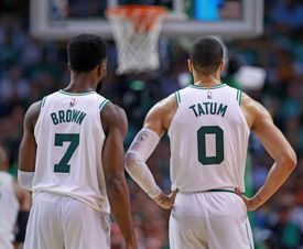 Jayson Tatum and Jaylen Brown were the top two scorers in the playoffs for the Celtics last season.