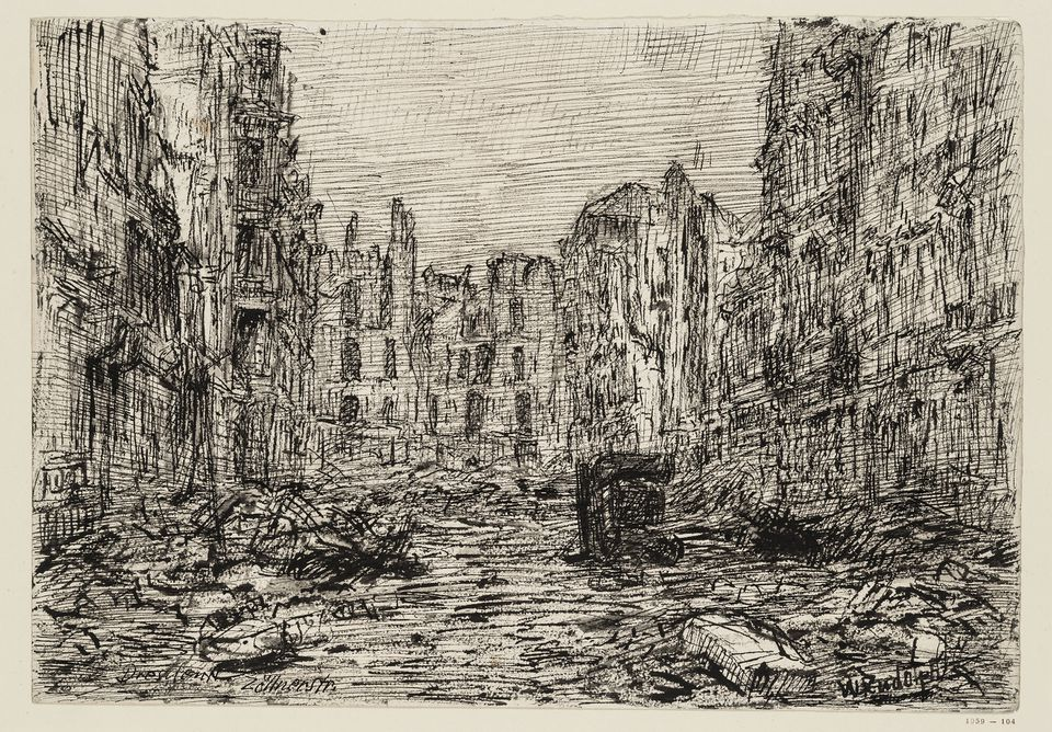 "Wilhelm Rudolph's ""Zollnerstr."" from the series ""Dresden Destroyed"""