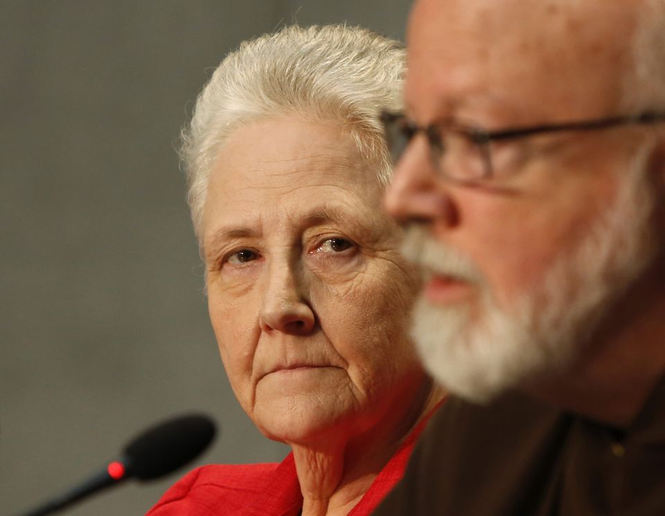 Marie Collins, shown with Cardinal Sean O'Malley, is a widely respected voice among survivors.