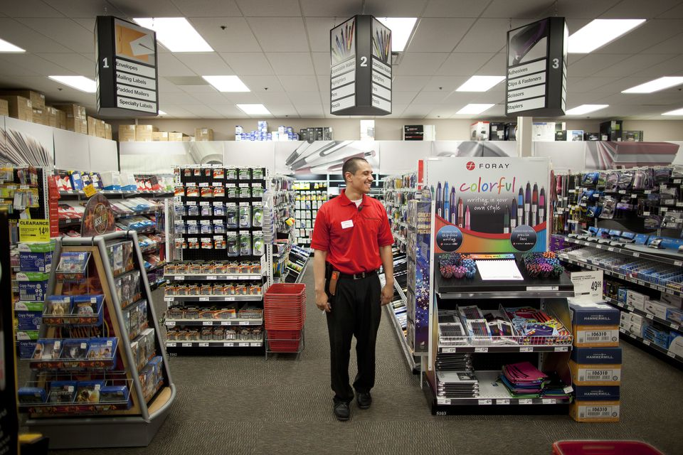 Office Depot is the number two US office-supply chain. Above, one of its stores in New Jersey.