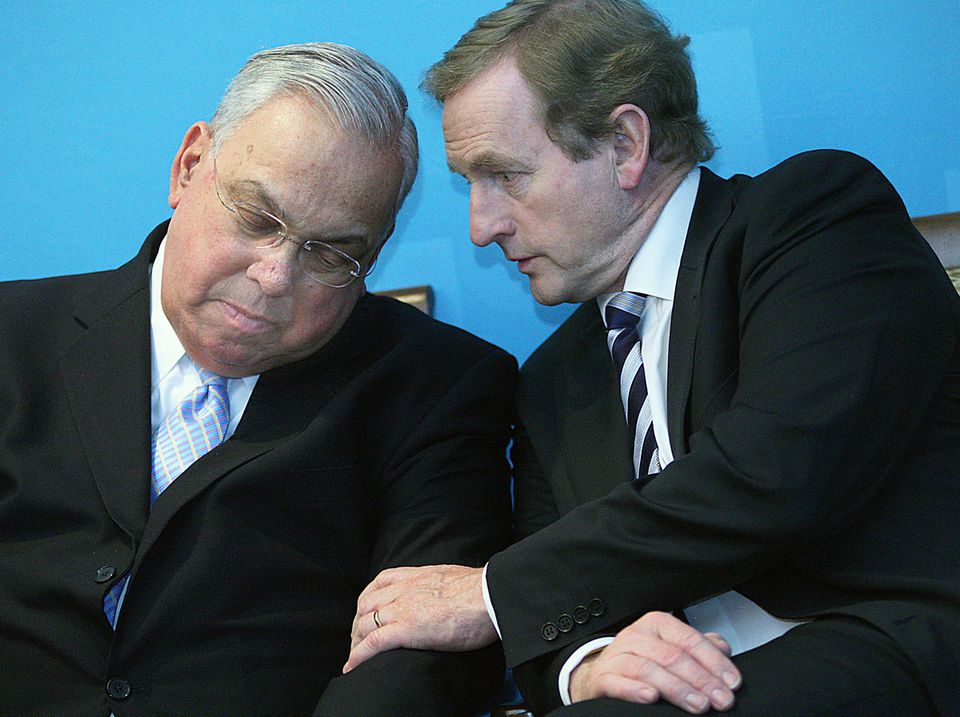 Prime Minister Enda Kenny of Ireland (right), with Mayor Thomas M. Menino yesterday, hopes that some of the 200,000 jobs he wants to add in Ireland by 2020 will come from US investment.