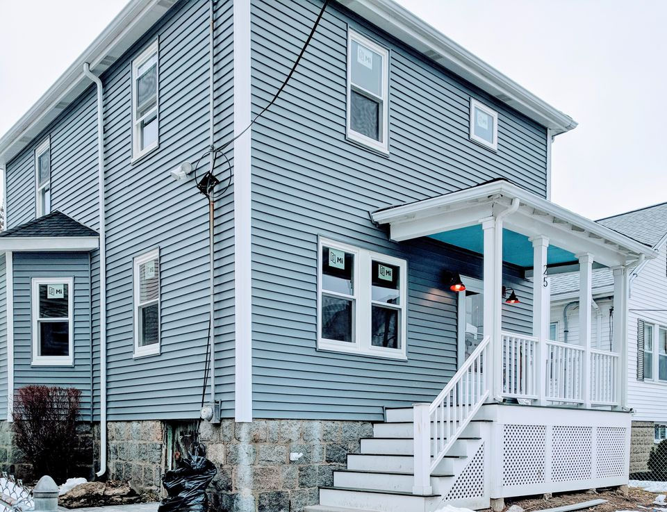 This house at 25 Leniston Street in Roslindale was listed for $589,500.