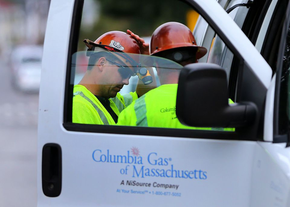 Columbia Gas workers were at work in South Lawrence Tuesday after last week's chaos.