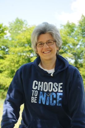 """Dina Creiger started """"Choose To Be Nice"""" after the Marathon bombings because she felt the world needed a lot more kindness."""