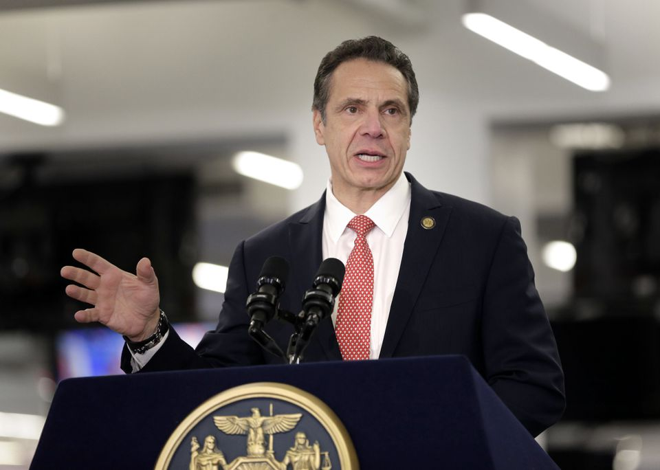 New York Governor Andrew Cuomo speaks before signing the Child Victims Act in New York.